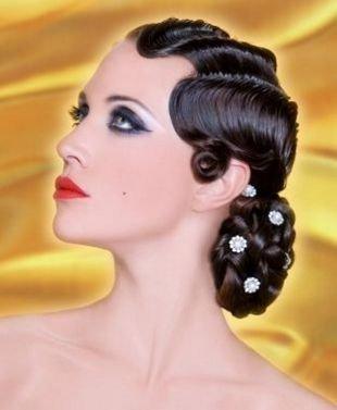 Макияж 60-х годов, экстравагантный макияж в стиле чикаго 30-х годов