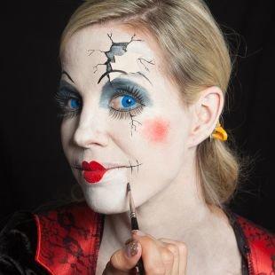 Макияж на Хэллоуин, макияж шута на хэллоуин
