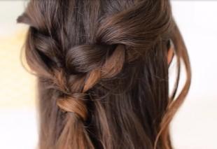 Цвет волос морозное глясе на длинные волосы, оригинальная прическа с простым плетением