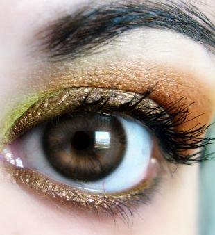 Восточный макияж для карих глаз, стильный макияж для карих глаз коричневыми тенями