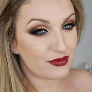 Вечерний макияж для серо-голубых глаз, эффектный макияж на новый год