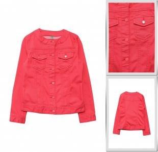 Коралловые куртки, куртка джинсовая united colors of benetton, весна-лето 2016