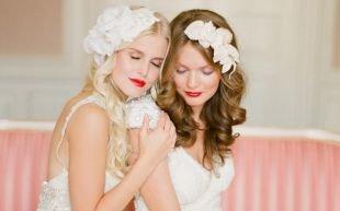 Летние прически, свадебные прически на средние волосы
