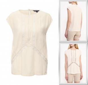 Бежевые блузки, блуза tommy hilfiger, весна-лето 2016