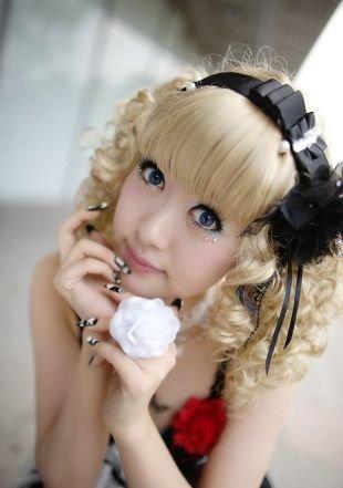 Макияж для блондинок с серо-голубыми глазами, японский макияж