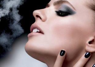 Яркий макияж для серых глаз, роскошный макияж на выпускной