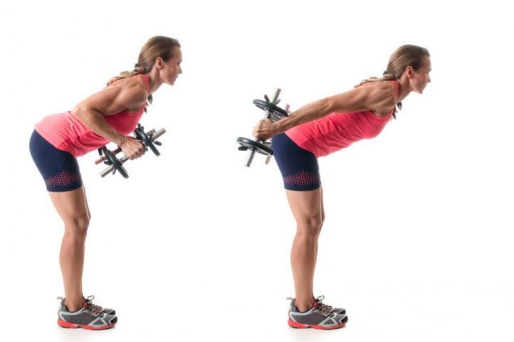 Упражнение – отведение рук назад