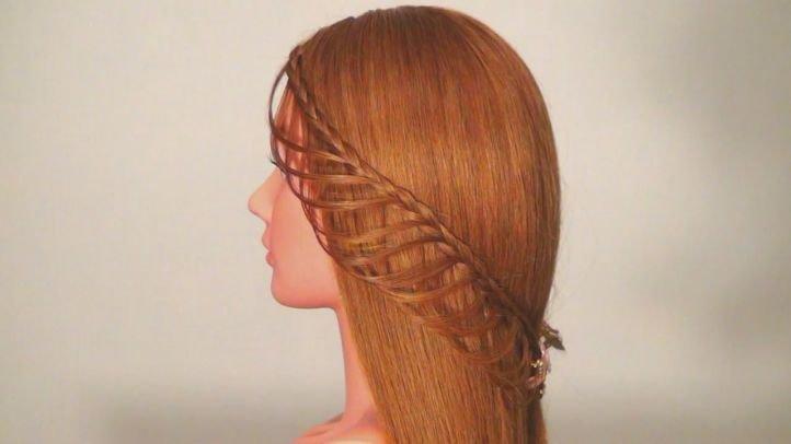 Прическа с плетением - ажурная коса