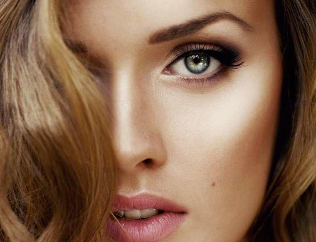 Дневной макияж для серых глаз с нависшими веками фото