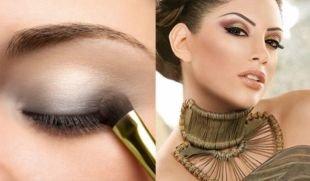 Макияж для карих глаз под зеленое платье, шикарный вечерний макияж