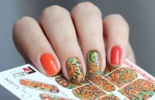 Маникюр на осень, модные слайдеры для ногтей