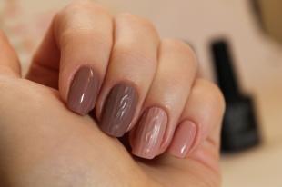 Объемные рисунки на ногтях, коричневый дизайн ногтей с вязаными элементами
