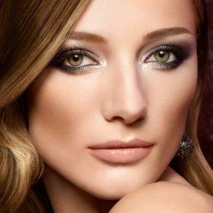 Темный макияж для зеленых глаз, арабский макияж с европейским акцентом