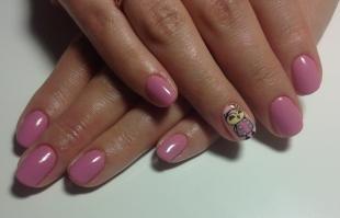 Рисунки совы на ногтях, розовый маникюр с совой