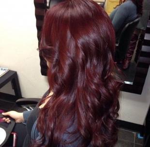 Красно коричневый цвет волос, бургундский цвет волос