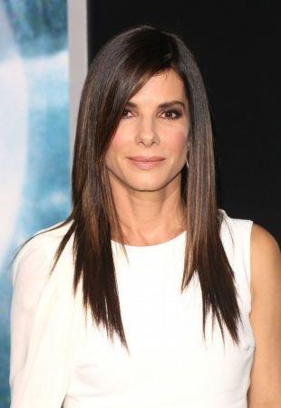"""Темно шоколадный цвет волос на длинные волосы, стрижки и прически для тонких волос - """"лесенка"""""""