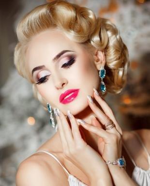 Яркий макияж для зеленых глаз, профессиональный свадебный макияж