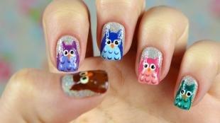 Рисунки совы на ногтях, дизайн ногтей с совами