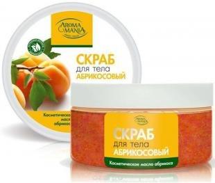 """Абрикосовый скраб, аромамания """"абрикосовый"""" скраб для тела с косметическим маслом абрикоса, 250 мл"""
