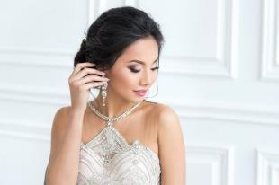 Коричневый макияж, свадебный макияж для брюнетки