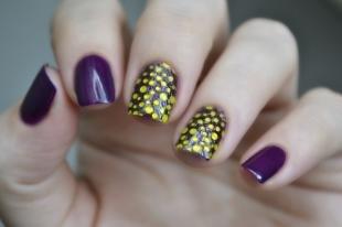 Маникюр на осень, 3d дизайн ногтей с наклейками
