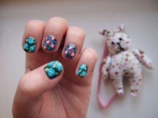 Рисунки акриловыми красками на ногтях, маникюр для тинейджеров