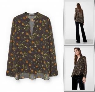 Коричневые блузки, блуза mango, осень-зима 2016/2017