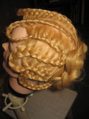 Прическа колосок на длинные волосы, коса «змейка»