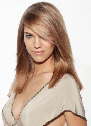 Перламутровый цвет волос на длинные волосы, пепельно-карамельный цвет волос