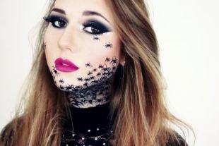Легкий макияж на хэллоуин, макияж на хэллоуин с пауками