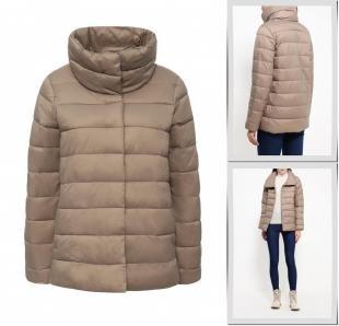 Бежевые куртки, куртка утепленная united colors of benetton, осень-зима 2016/2017
