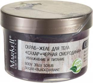 """Скраб для тела из сахара, markell natural line скраб-желе для тела """"сахар+черная смородина"""", 280 г"""